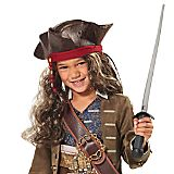 Jack Sparrow Pirate Hat and Wig for Kids - Pirates of the Caribbean