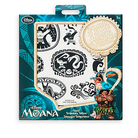 maui temporary tattoos disney moana disney store. Black Bedroom Furniture Sets. Home Design Ideas
