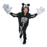 디즈니 할로윈 코스튬 Disney Mickey Mouse Glow-in-the-Dark Skeleton Costume for Kids
