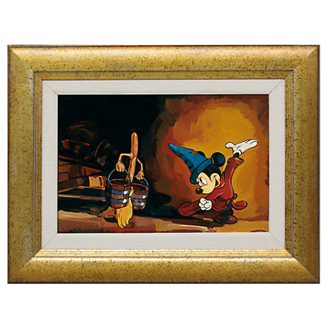 Mickey Mouse ''The Sorcerer's Apprentice'' Giclée by Jim Salvati - Framed