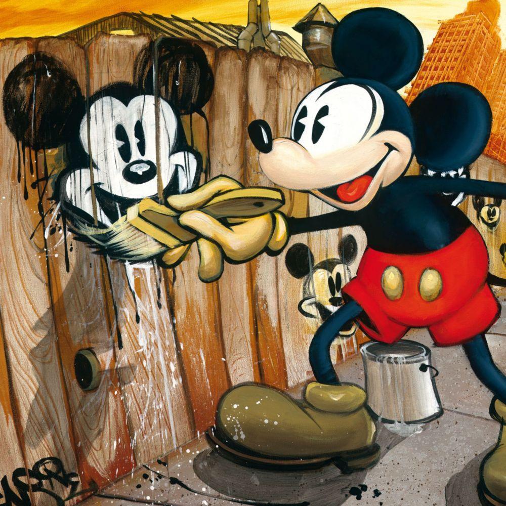 Mickey Mouse ''Mickey da Vinci''  Giclée on Canvas – BLOC28