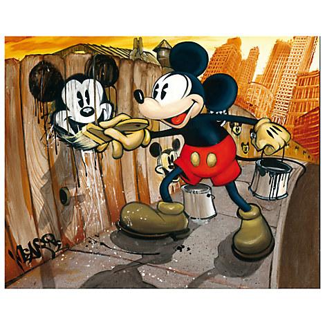 Mickey Mouse ''Mickey da Vinci''  Giclée on Canvas - BLOC28