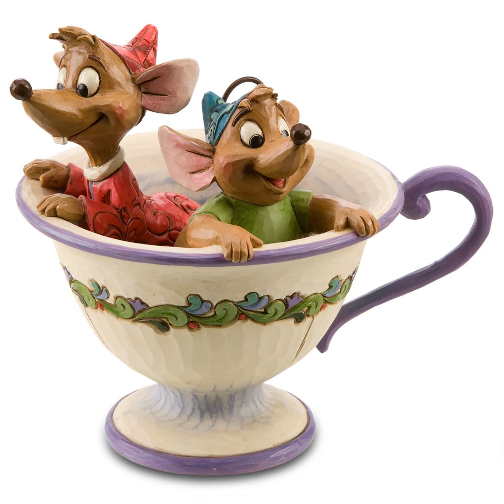 Gus and Jaq ''Tea for Two'' Figurine by Jim Shore Official shopDisney