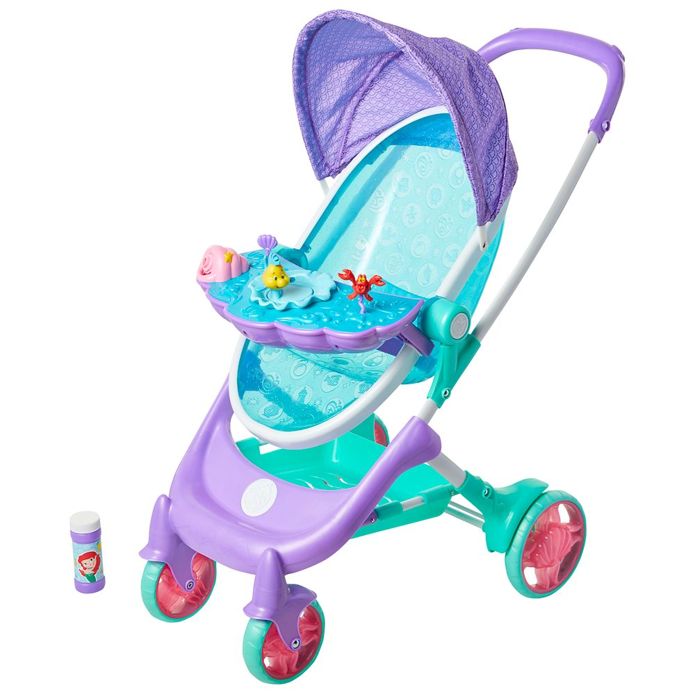 The Little Mermaid Musical Bubble Doll Stroller