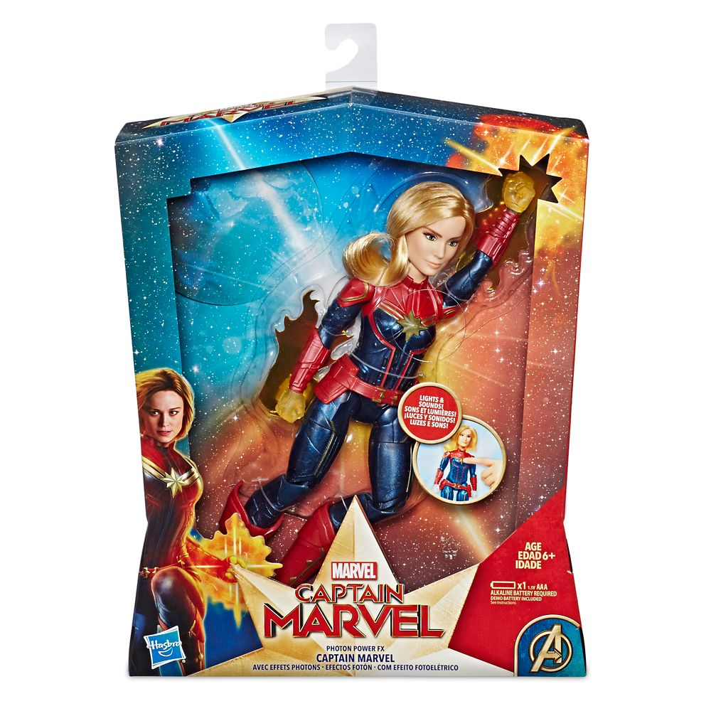 Marvel's Captain Marvel Photon Power FX Light-Up Action Figure by Hasbro