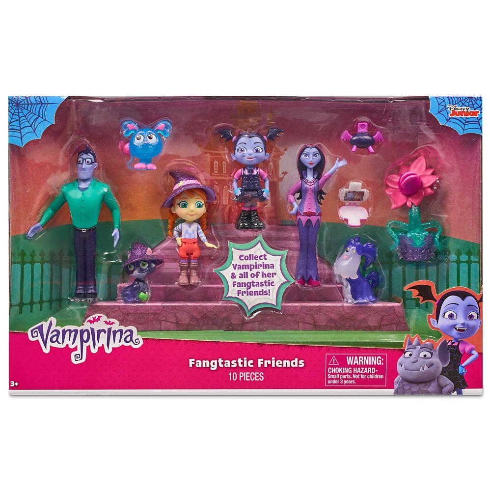 New Disney Vampirina Fangtastic Friends Figure Set 10 Pieces Including Wolfe