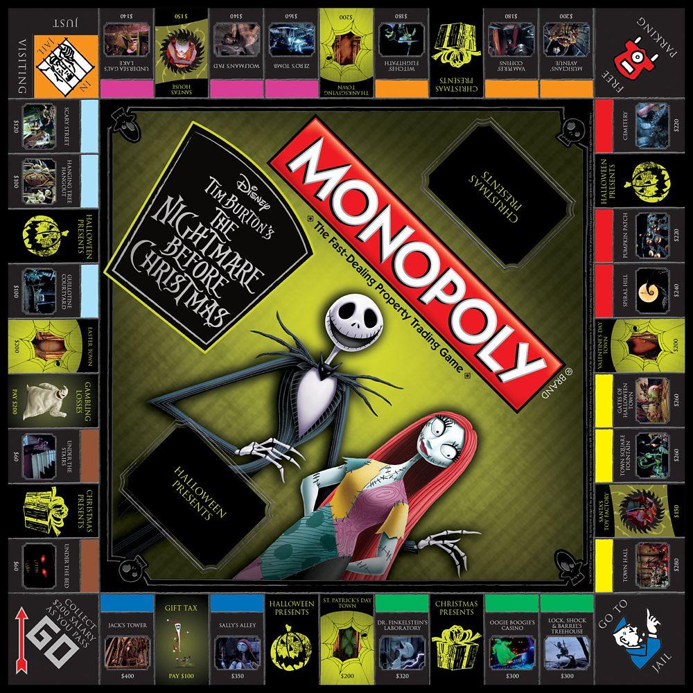 Tim Burton's The Nightmare Before Christmas Monopoly Game