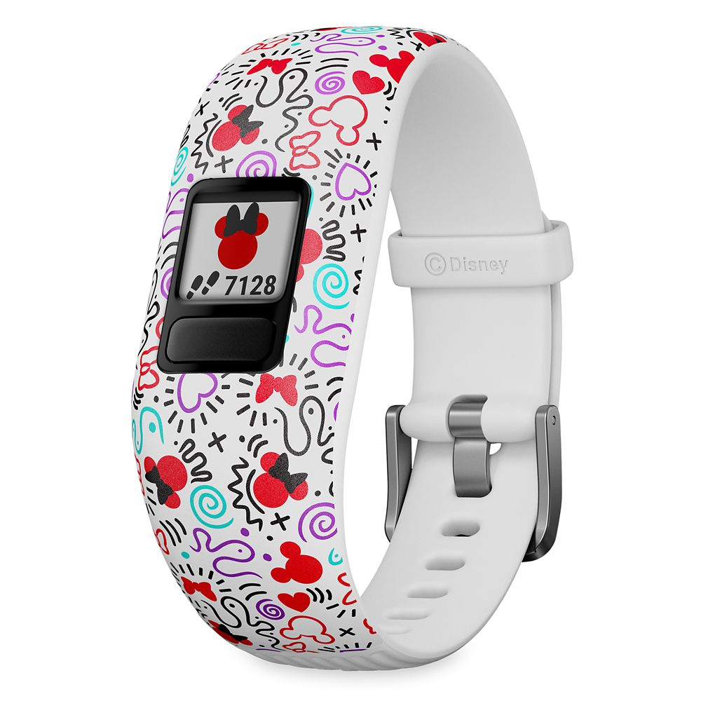 Minnie Mouse Icon Garmin vívofit jr. 2 Activity Tracker for Kids with Adjustable Band