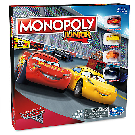 Monopoly Junior Game - PIXAR Cars 3 Edition
