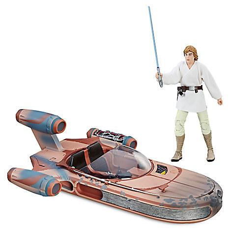 Luke Skywalker's Landspeeder Vehicle Set - Star Wars: The Black Series by Hasbro