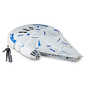 Han Solo Action Figure & Millennium Falcon Force Link Set by Hasbro - Solo: A Star Wars Story 3061045461030P