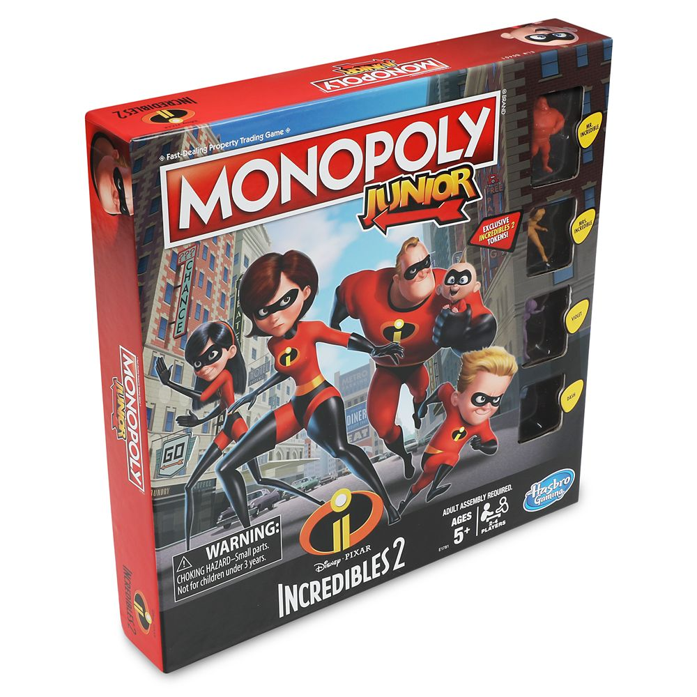 Incredibles 2 Monopoly Junior Game