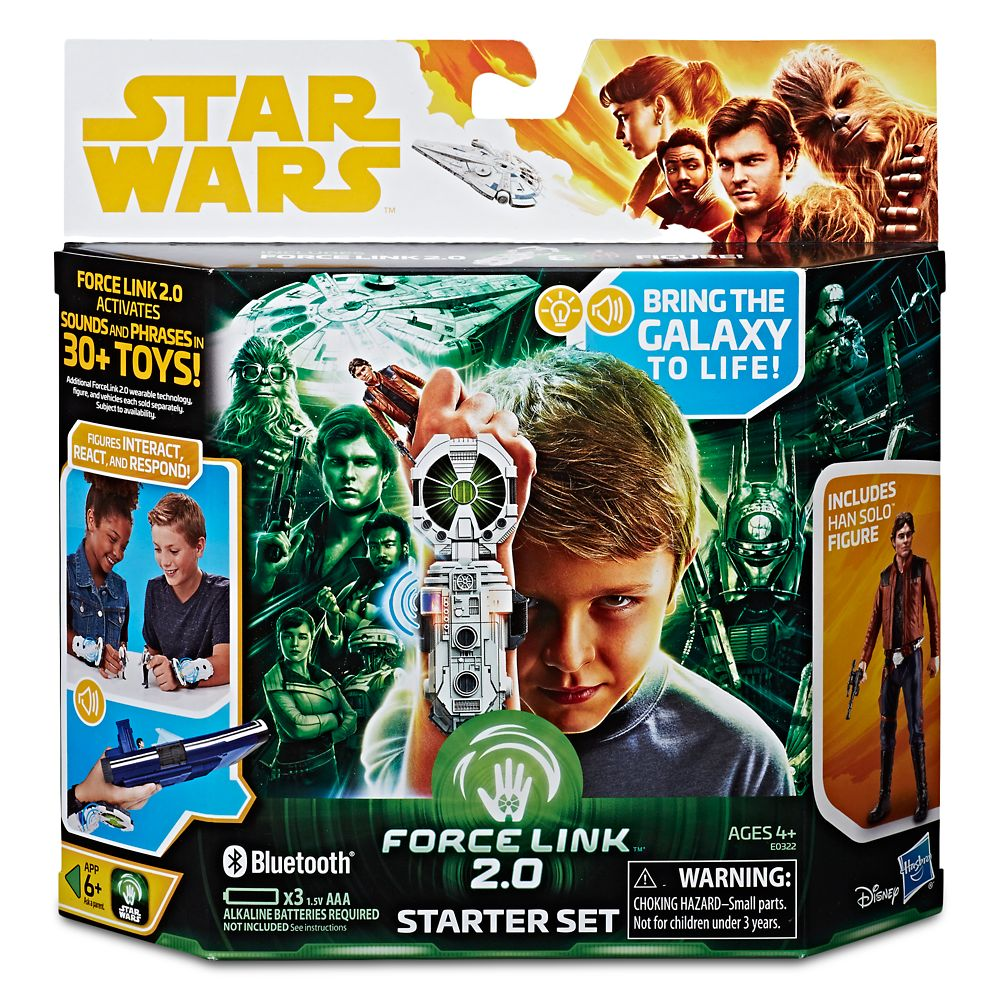 Han Solo Action Figure Force Link 2.0 Starter Kit – Solo: A Star Wars Story