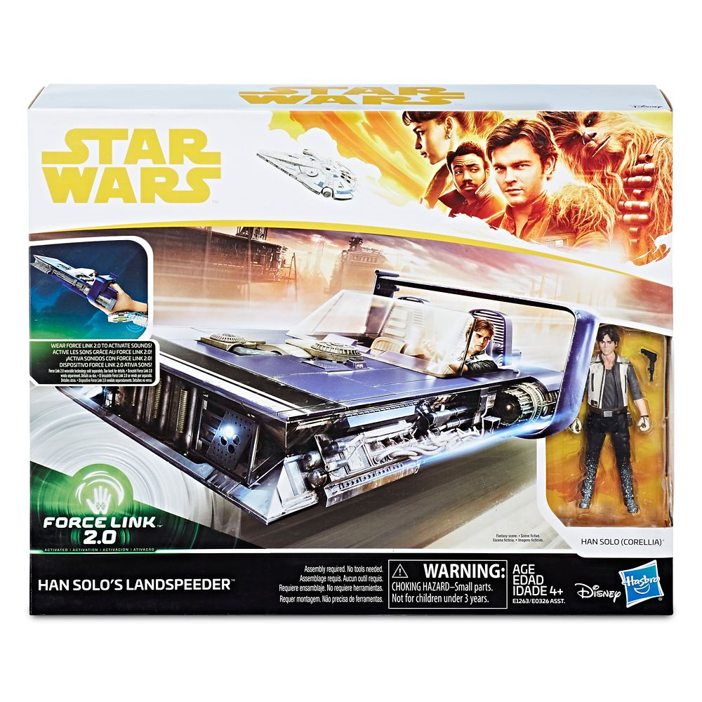 Han Solo Action Figure and Landspeeder Force Link 2.0 Set – Solo: A Star Wars Story