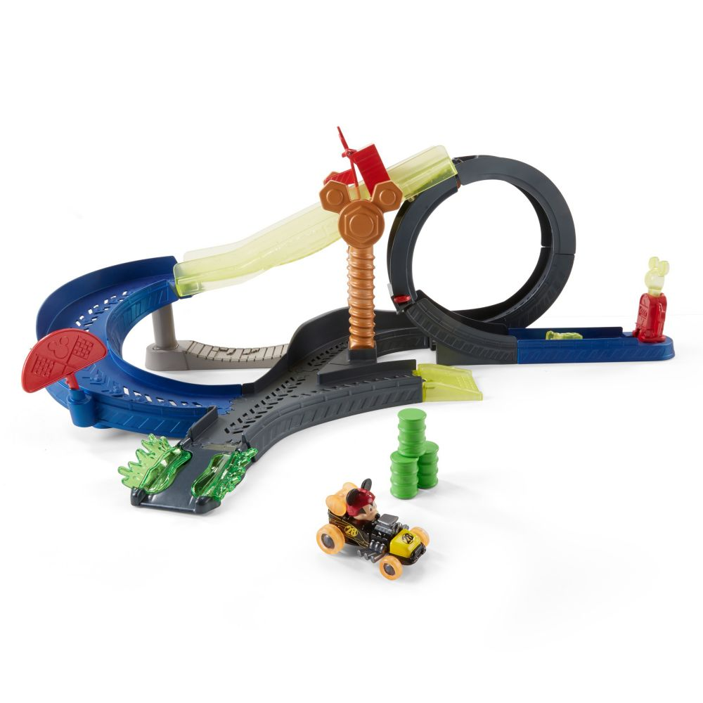 Mickey Mouse Drop & Loop Playset by Fisher Price – Mickey and the Roadster Racers