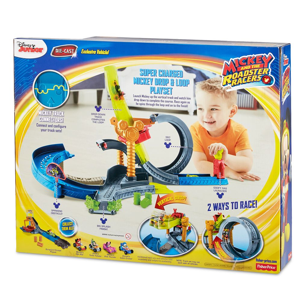Mickey Mouse Drop Loop Playset By Fisher Price Mickey And The Roadster Racers Shopdisney