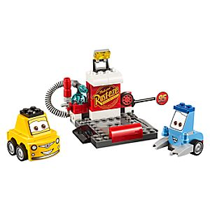 Disney Store Guido And Luigi's Pit Stop Playset By Lego Juniors  -  Cars