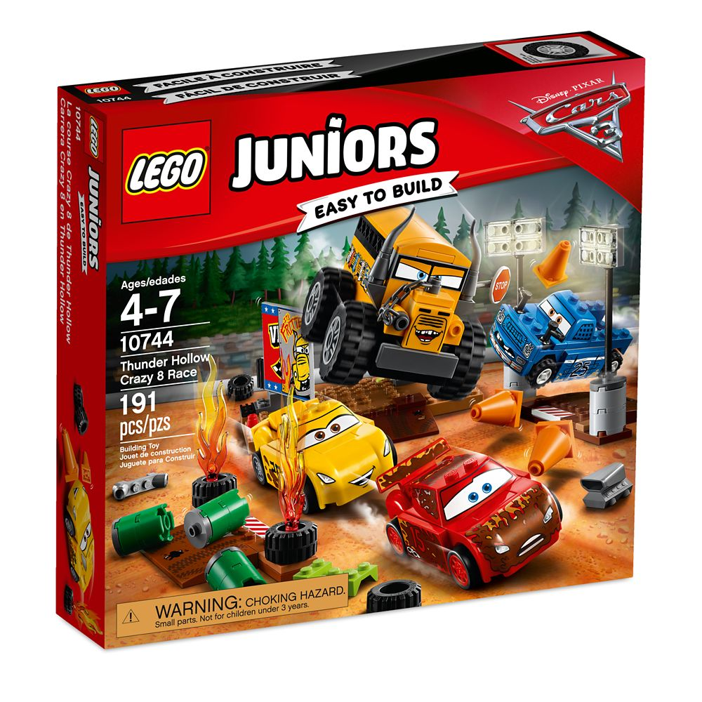Thunder Hollow Crazy 8 Race Playset By Lego Juniors Cars 3