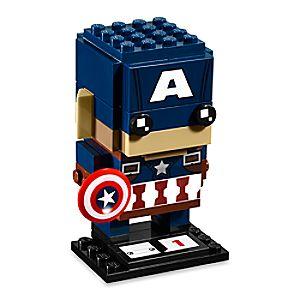 Disney Store Captain America Brickheadz Figure By Lego