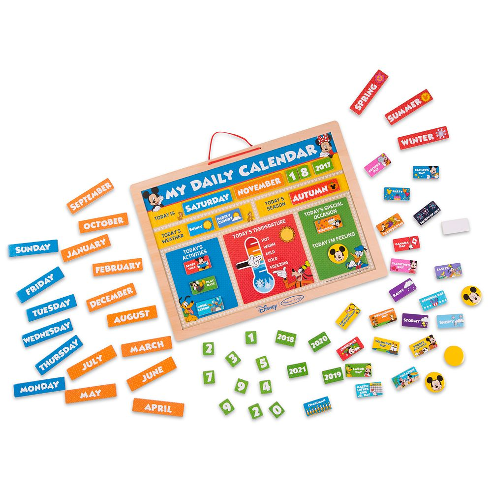 Mickey Mouse My Magnetic Daily Calendar Set by Melissa & Doug