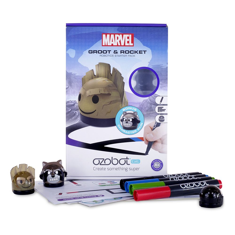 photo about Ozobot Printable identified as Groot and Rocket Ozobot Robotics Newbie Pack Guardians of the Galaxy