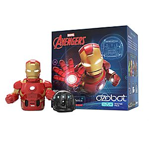 Ozobot Evo and Marvel's The Avengers Smart Robot Toy Master Pack – Iron Man