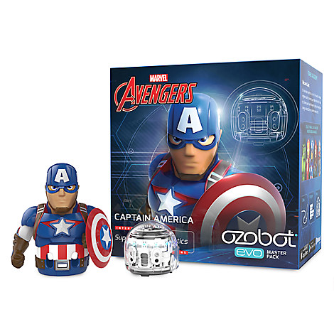 Ozobot Evo and Marvel's The Avengers Smart Robot Toy Master Pack - Captain America