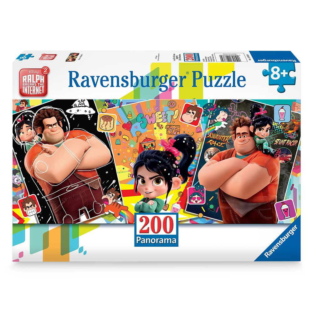 Wreck-It Ralph and Vanellope Panorama Puzzle by Ravensburger – Ralph Breaks the Internet