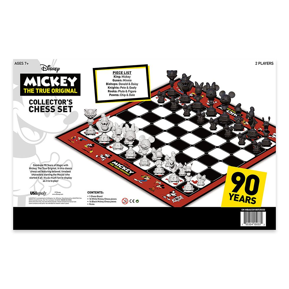Mickey Mouse 90th Anniversary Chess Set