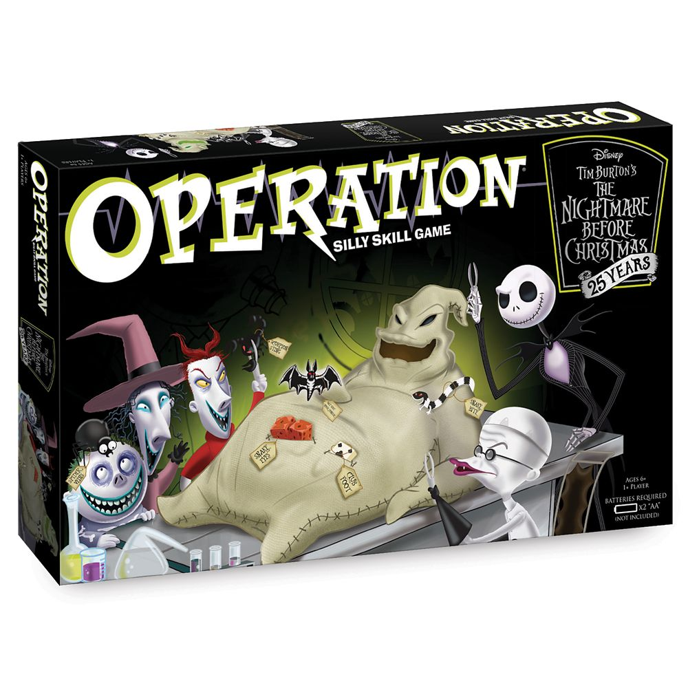 Christmas Operation Game.The Nightmare Before Christmas 25th Anniversary Operation Game