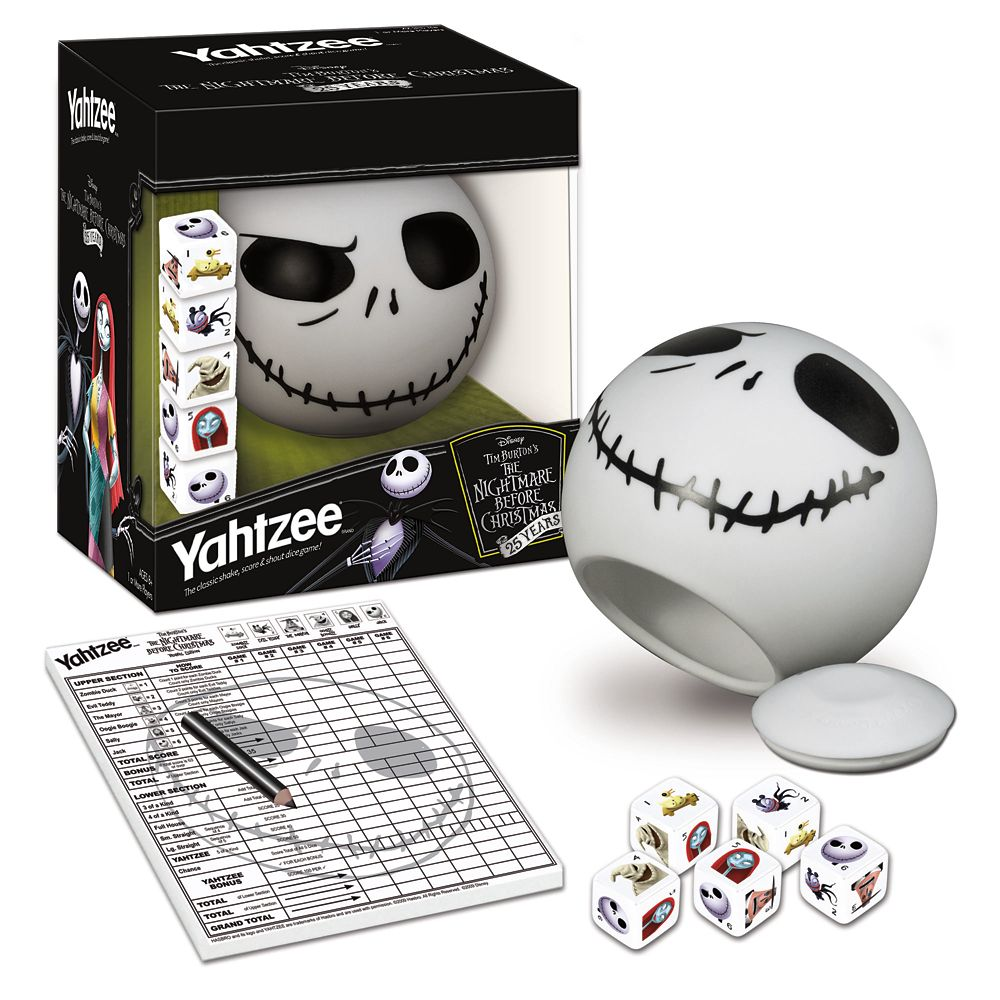 The Nightmare Before Christmas 25 Years Yahtzee