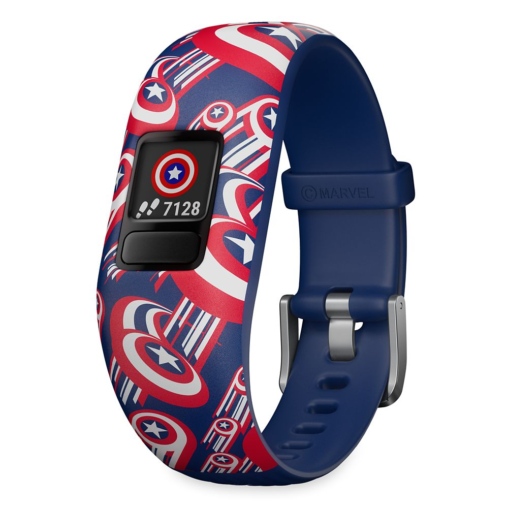 Captain America Garmin vívofit jr. 2 Activity Tracker for Kids with Adjustable Band – Red