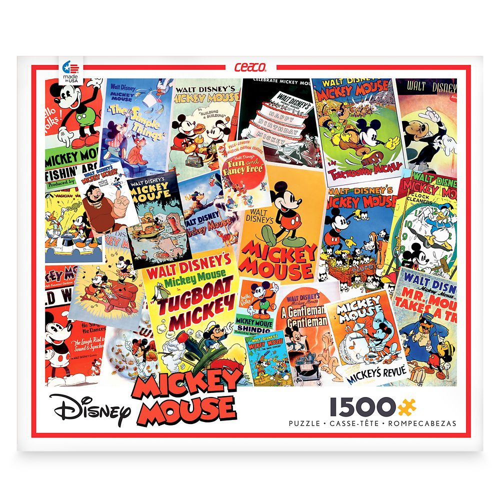 Mickey Mouse Movie Posters Jigsaw Puzzle by Ceaco
