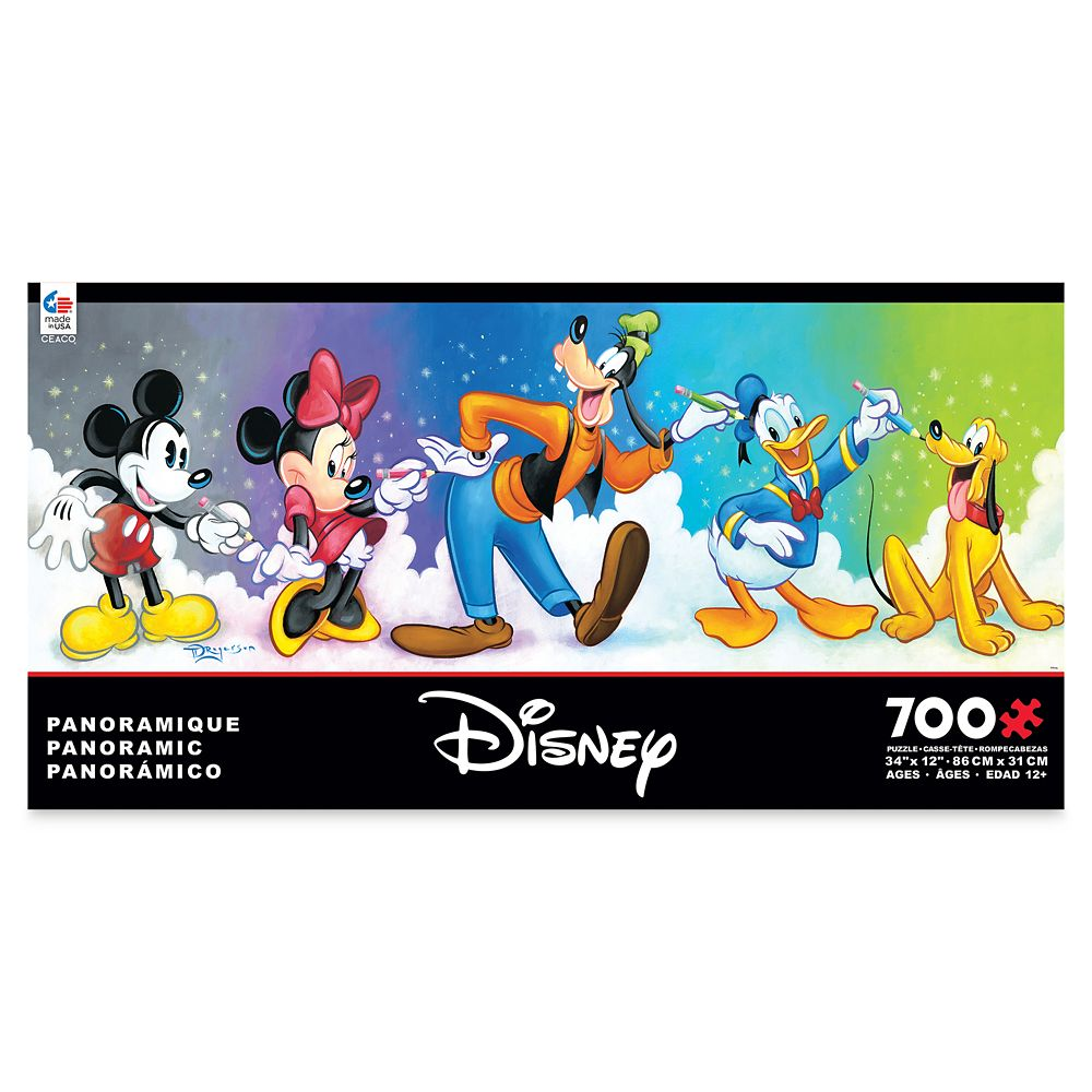 Mickey Mouse and Friends Panoramic Jigsaw Puzzle