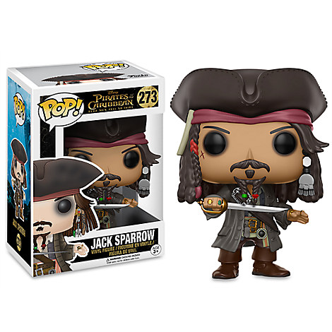 Captain Jack Sparrow Pop! Vinyl Figure by Funko - Pirates of the Caribbean: Dead Men Tell No Tales