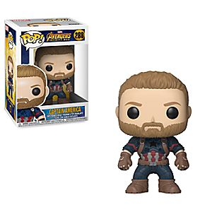 Captain America Pop! Vinyl Bobble-Head Figure by Funko - Marvel's Avengers Infinity War 3065047370851P