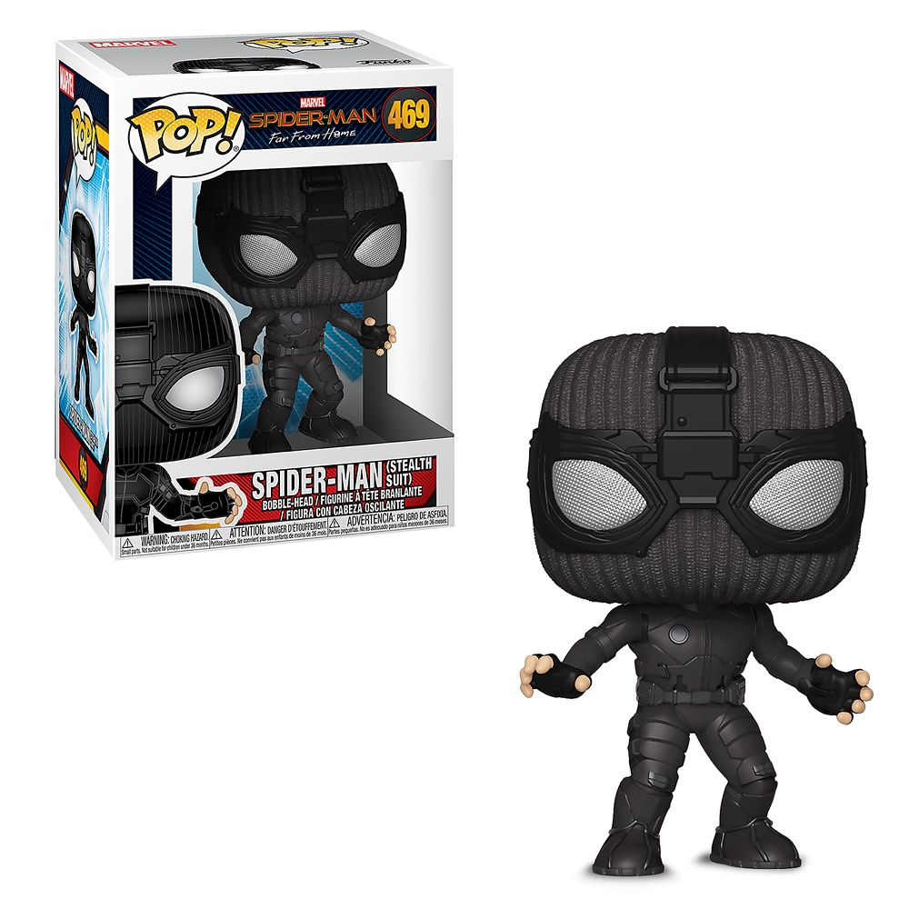 Spider-Man Stealth Suit Pop! Vinyl Bobble-Head Figure by Funko