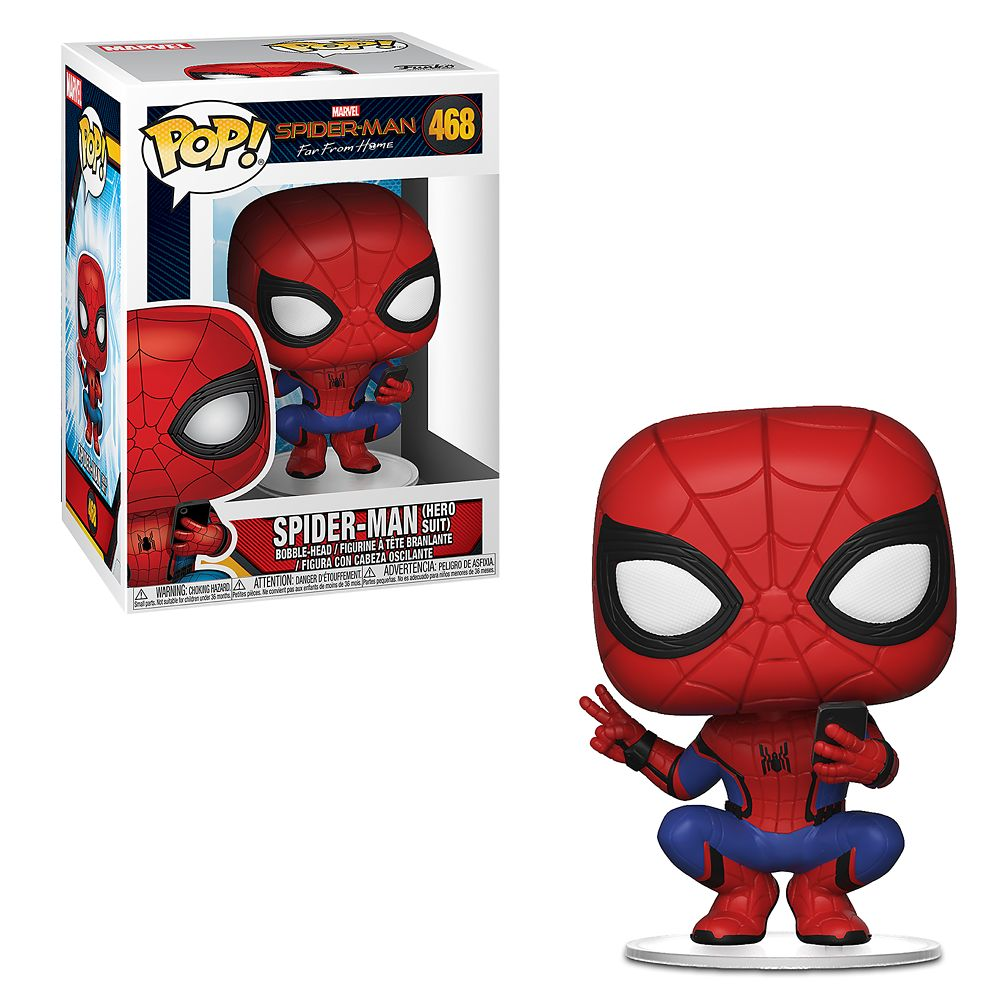 Spider-Man Hero Suit Pop! Vinyl Figure by Funko  Spider-Man: Far from Home Official shopDisney