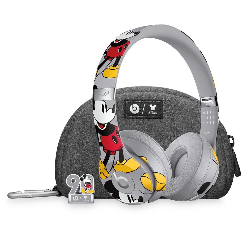 Beats Solo3 Wireless Headphones  Mickey's 90th Anniversary Edition  Gray Official shopDisney