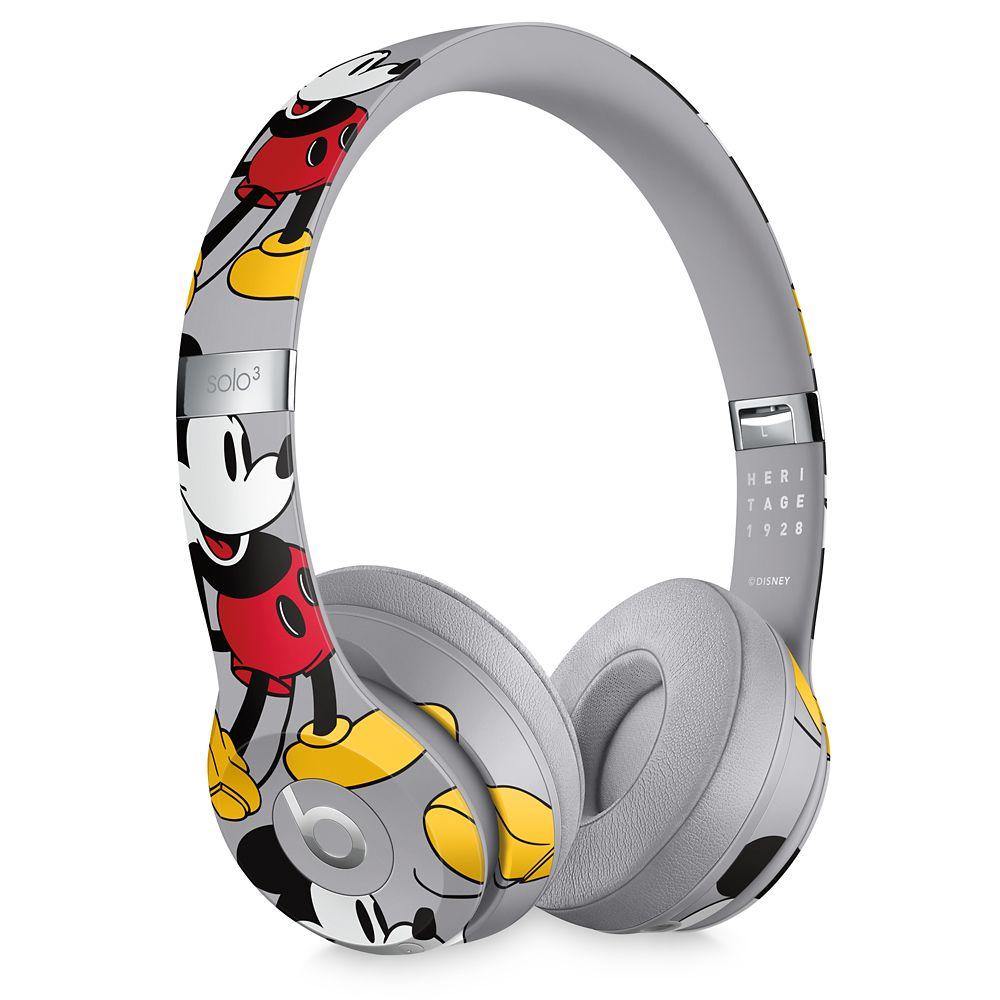 Beats Solo3 Wireless Headphones – Mickey's 90th Anniversary Edition – Gray