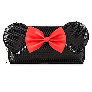 Minnie Mouse Wallet by Loungefly - Black Sequined