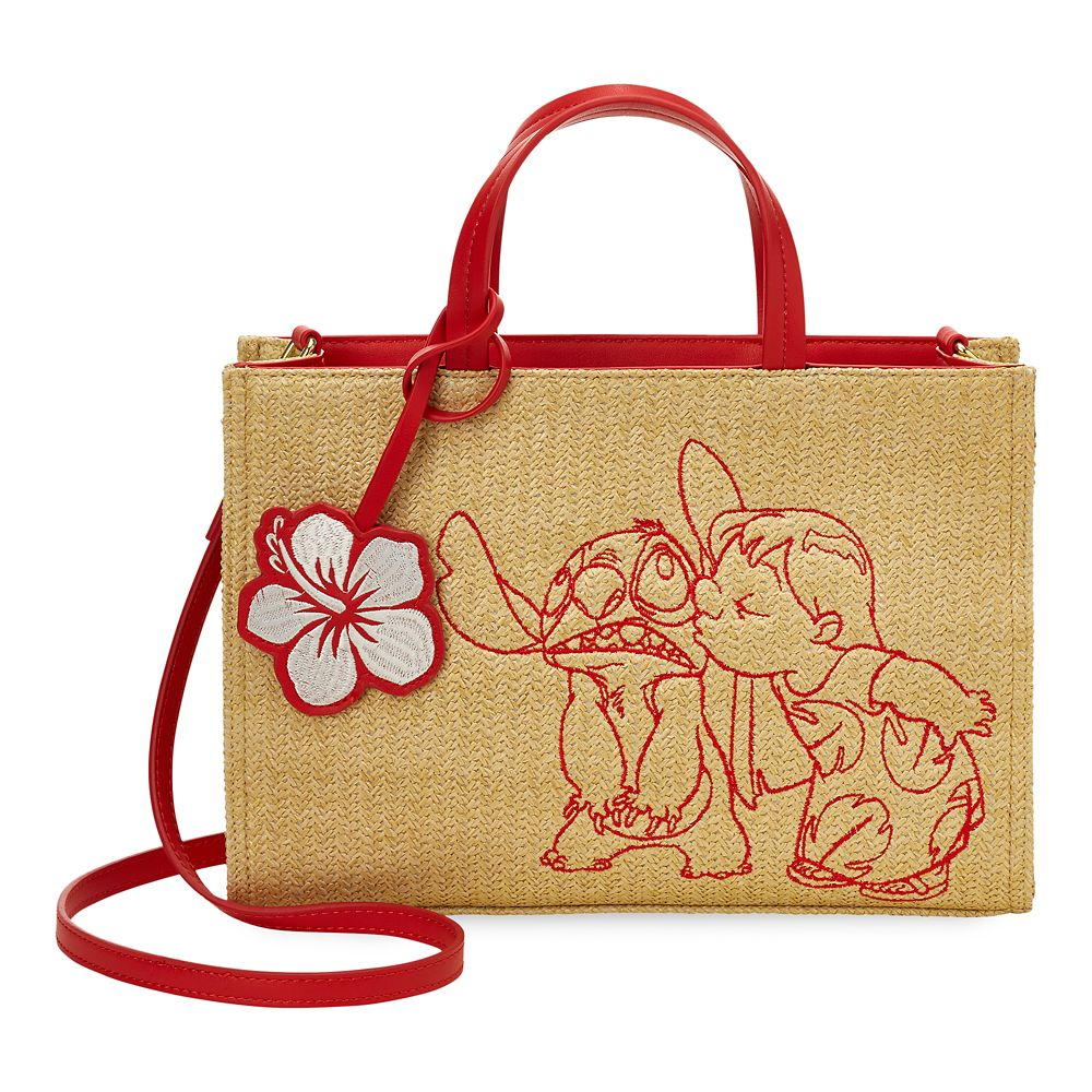 Lilo & Stitch Straw Tote Bag by Danielle Nicole