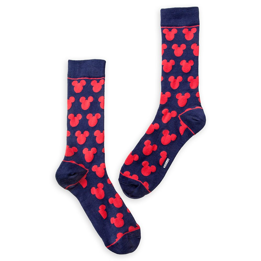 Mickey Mouse Navy and Red Socks – Adults