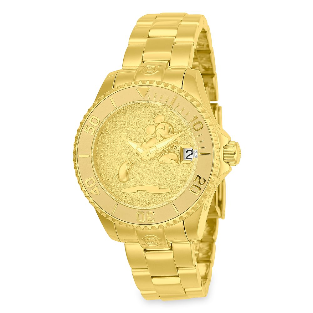 Mickey Mouse Golden Watch for Women by INVICTA – Limited Edition