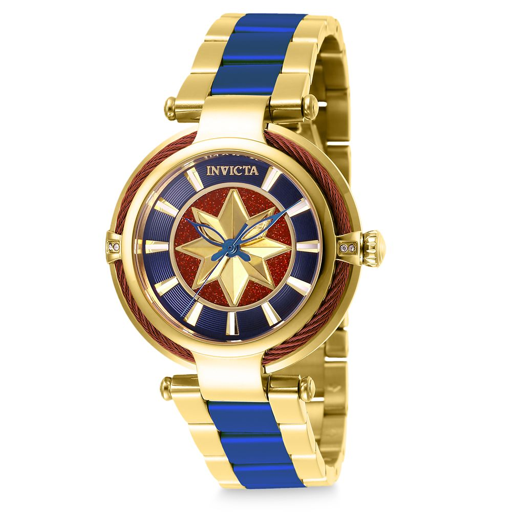 35 Amazing Marvel Gift Ideas featured by top US Disney blogger, Marcie and the Mouse: Marvel's Captain Marvel Watch for Women by INVICTA Official shopDisney