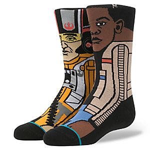 """Finn and Poe """"The Resistance 2"""" Socks for Boys by Stance – Star Wars"""