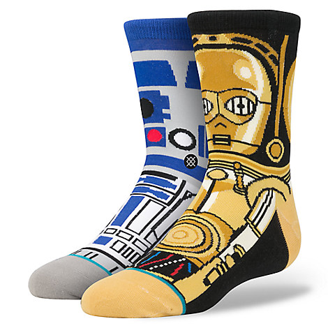 R2-D2 and C-3PO ''Droid'' Socks for Boys by Stance - Star Wars