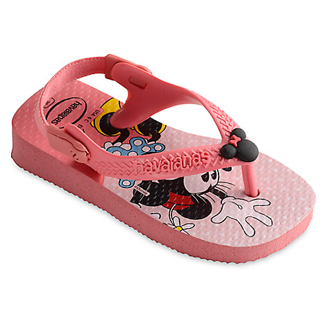 Minnie Mouse Flip Flops for Baby by Havaianas