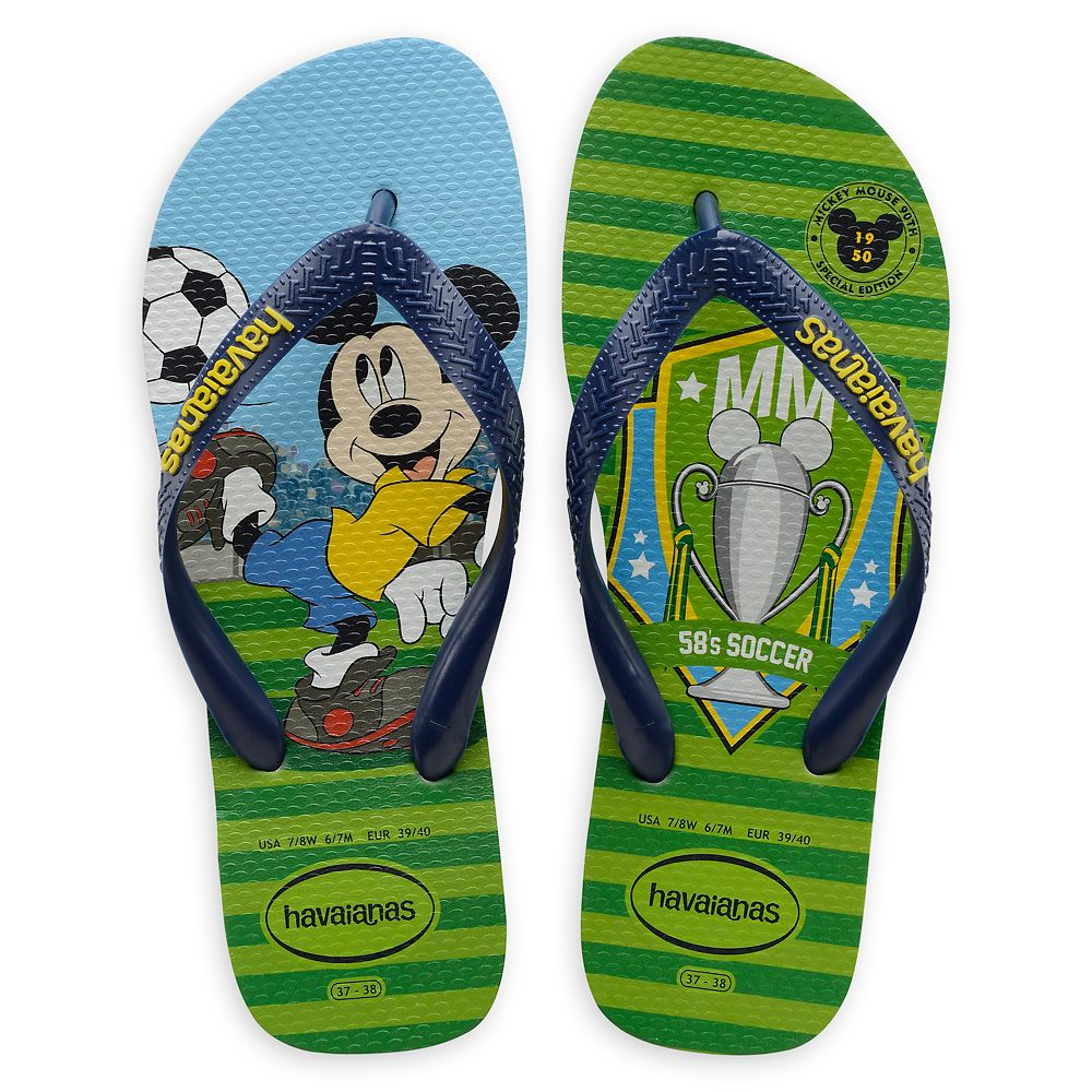 Mickey Mouse World Cup Flip Flops by Havaianas – 1950s