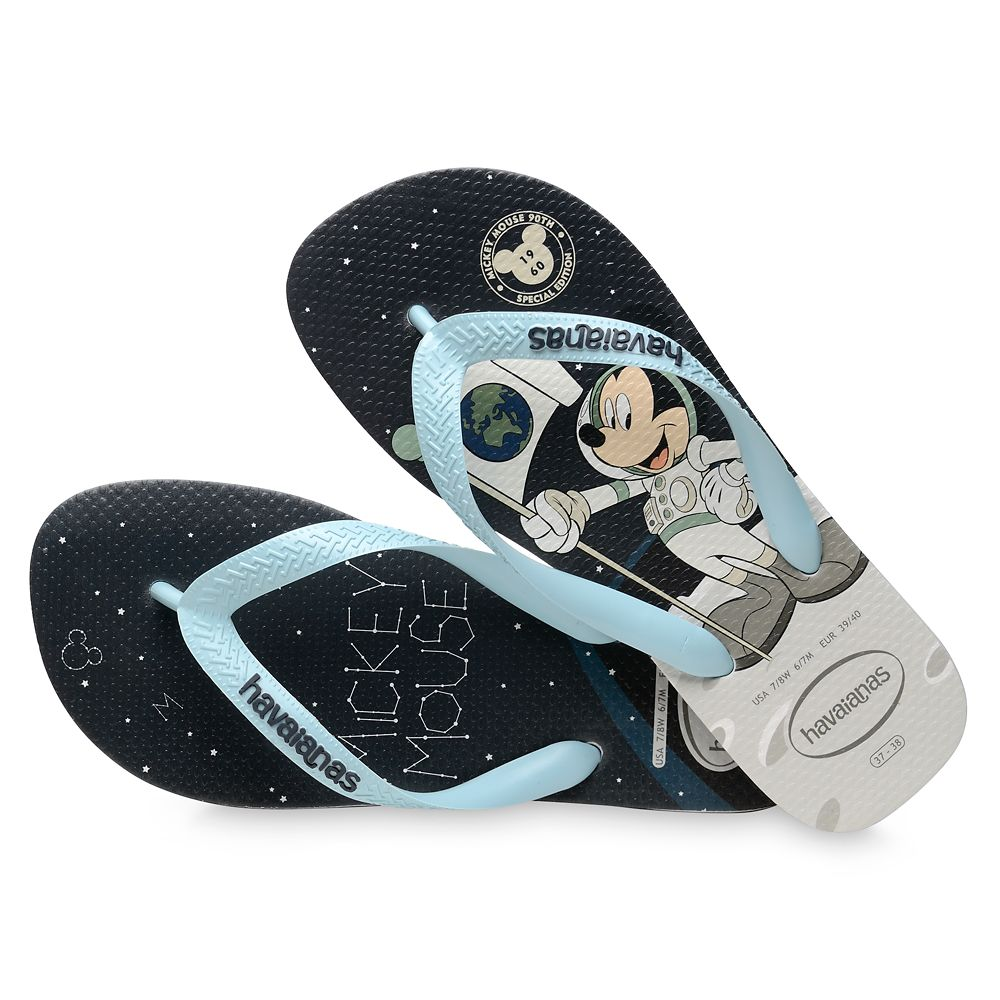 Mickey Mouse Moon Landing Flip Flops for Adults by Havaianas – 1960s